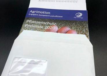 Broschuere mit Anschreiben konfektioniert  inkl. Posteinsendung